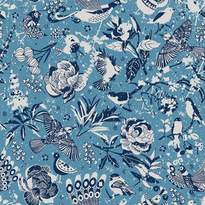 Birds in the snow | blue