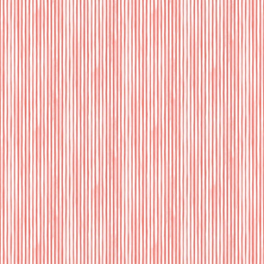 Watercolor Extra Small Vertical Stripes Living White Cora by Friztin