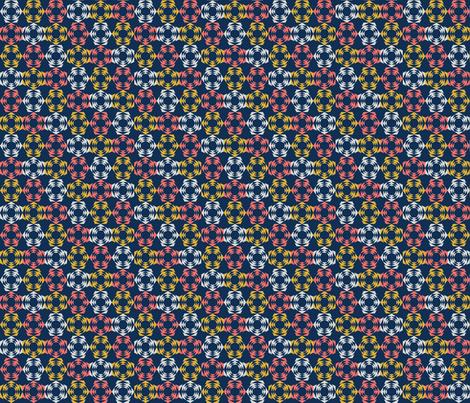 Bold Hexagon fabric by lehoux_art on Spoonflower - custom fabric