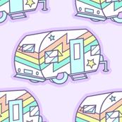 Pastel Retro Camper