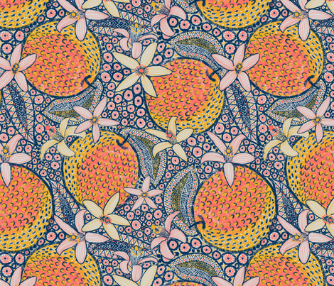 African Oranges fabric by helenpdesigns on Spoonflower - custom fabric