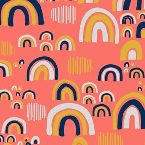 Playful Rainbows - Coral