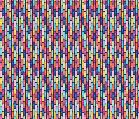 Bandage Stripe Blue - Small fabric by lellobird on Spoonflower - custom fabric