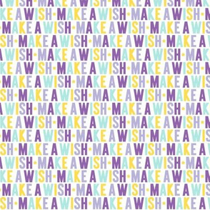 make a wish XSM // purple + teal + yellow