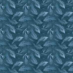 Blue pine needles Seamless