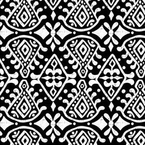 Zara - Black & White Geometric - Smaller Scale