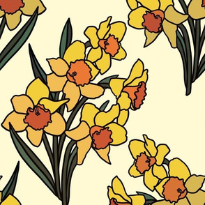 Daffodils on cream