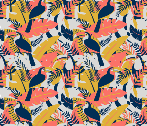 Tucanes fabric by valmo on Spoonflower - custom fabric