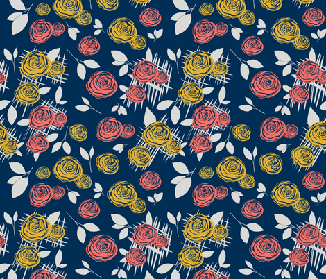 Blue Boundary fabric by tocpaintsforme on Spoonflower - custom fabric