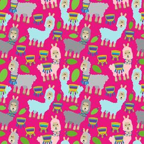 Hot Pink Llamas