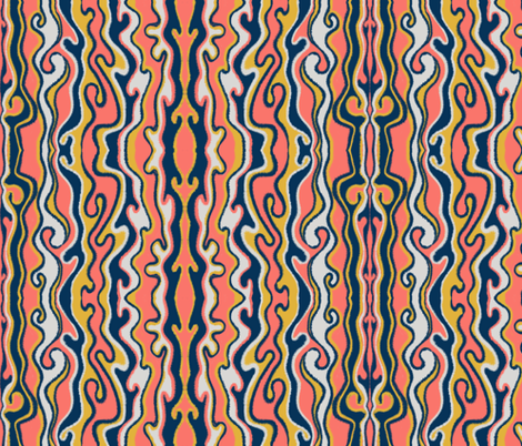 Squiggles fabric by gcatmash on Spoonflower - custom fabric
