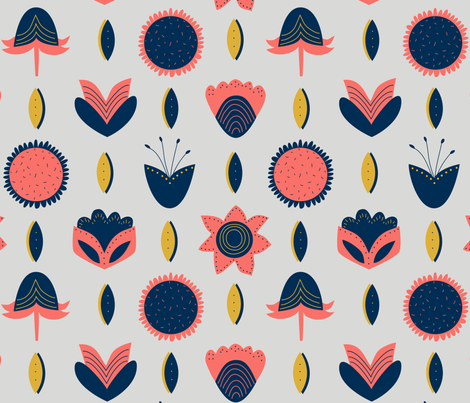 Coral Bloom fabric by alicemoore on Spoonflower - custom fabric