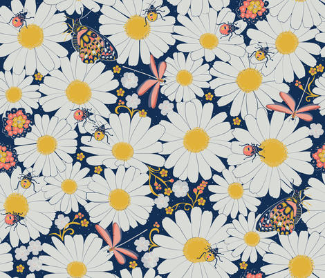 Busy garden from above fabric by liluna on Spoonflower - custom fabric