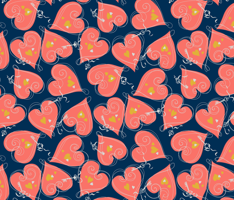 ktmh_limitedpalette-02 fabric by tuppencehapenny on Spoonflower - custom fabric