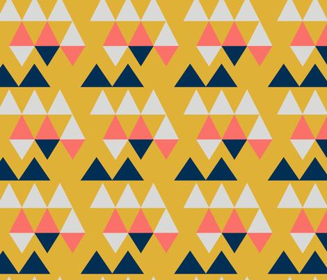 CORAL TRIMETRIC fabric by prairie_owl_designs on Spoonflower - custom fabric