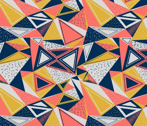 SpoonflowerTriangles3_150 fabric by kristinschneider on Spoonflower - custom fabric
