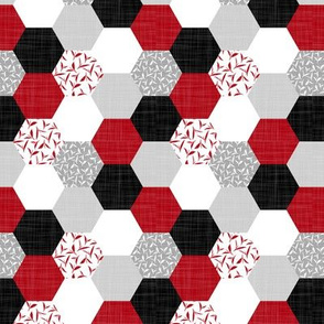 tea leaf hexagons red - small