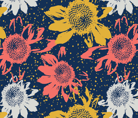 Spoonflower-Limited-Color-Palette-Challenge fabric by jenshepparddesigns on Spoonflower - custom fabric