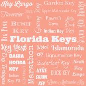 Florida Keys, light coral and white
