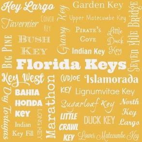 Florida Keys, yellow and white
