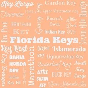 Florida Keys, peach and white