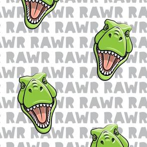 (Jumbo scale) Tyrannosaurus rex  - RAWR grey 2- dinosaur trex LAD19BS