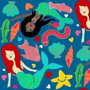 Long hair mermaids au naturel