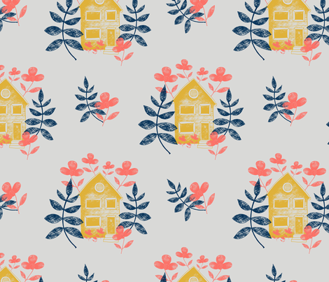 The Garden House fabric by jamiejaques on Spoonflower - custom fabric