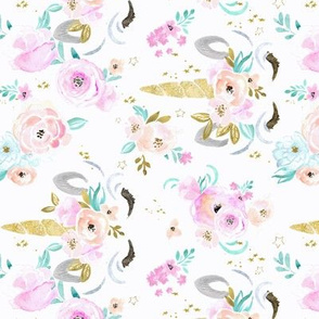 unicorn floral - M - rotated