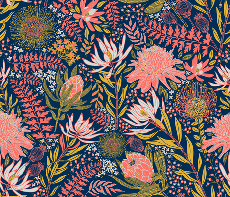 Protea Garden fabric by honoluludesign on Spoonflower - custom fabric
