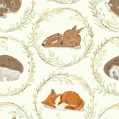 Sshhh, Don't Wake the Babies! Vintage White, Large Scale