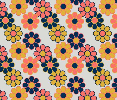 Spring Flower ~ Daisy Picnic fabric by catsinredhats on Spoonflower - custom fabric