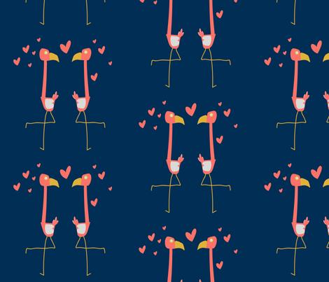 flamingo love fabric by maybeedesignsco on Spoonflower - custom fabric