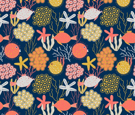 Coral Reef fabric by brittany_smith_creations_ on Spoonflower - custom fabric