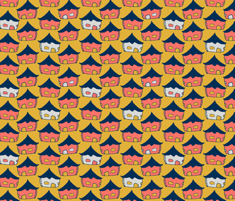 All the Tiny Houses fabric by megmarchiando on Spoonflower - custom fabric