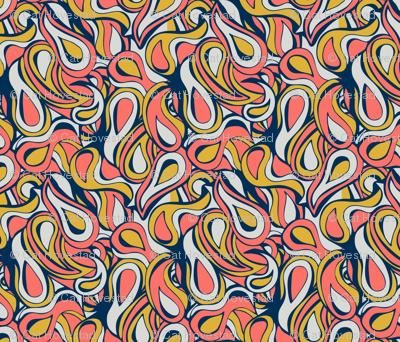 60's Coral Swirl
