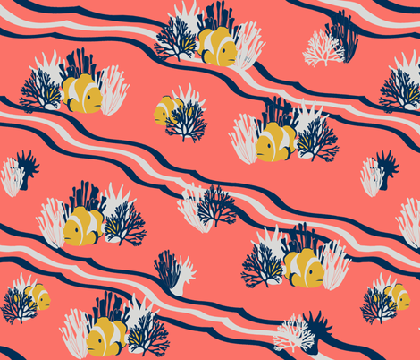 Living Coral Reef fabric by barbaramarrs on Spoonflower - custom fabric