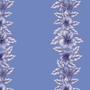 HIBISCUS STRIPE IN BLUE