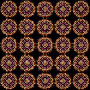 Dry flower mandala