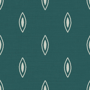 Morocco Teal & Cream