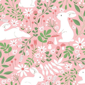 Spring Bunnies in pink