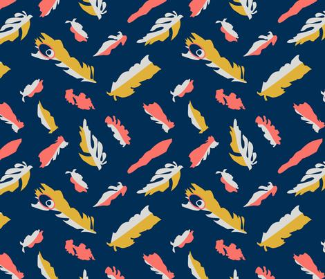 Feathers of Wonder fabric by aj_design_impressions on Spoonflower - custom fabric