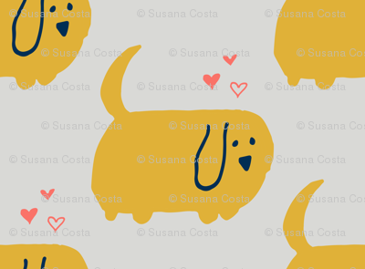 Cute Dog  Yellow