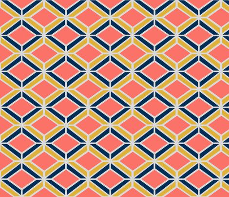 Coral Diamond fabric by leananicoledesign on Spoonflower - custom fabric