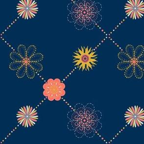 Floral Fireworks Garden Trellis
