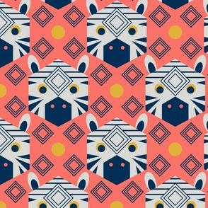 Geometric Zebra Coral Limited Color small