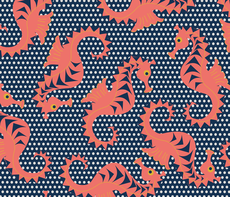 Ditsy Seahorses fabric by colour_angel_by_kv on Spoonflower - custom fabric