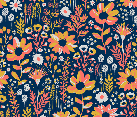 Painted Meadow fabric by jill_o_connor on Spoonflower - custom fabric