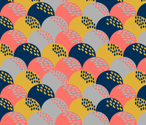 Scandi Hills Coral fabric by celina_digby on Spoonflower - custom fabric