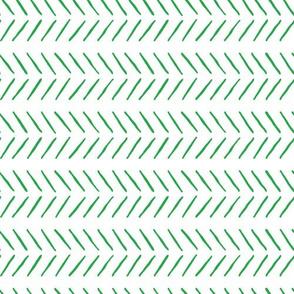 green inky herringbone